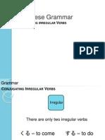 g5 conjugating iregular verbsverbs