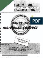 Nsa Conduct Guide 1955(Pre Snowden)