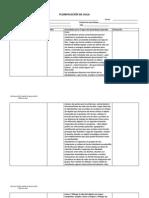 Formato Planificaciones 2012