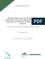 Measurement and Interpretation of Underwater Noise