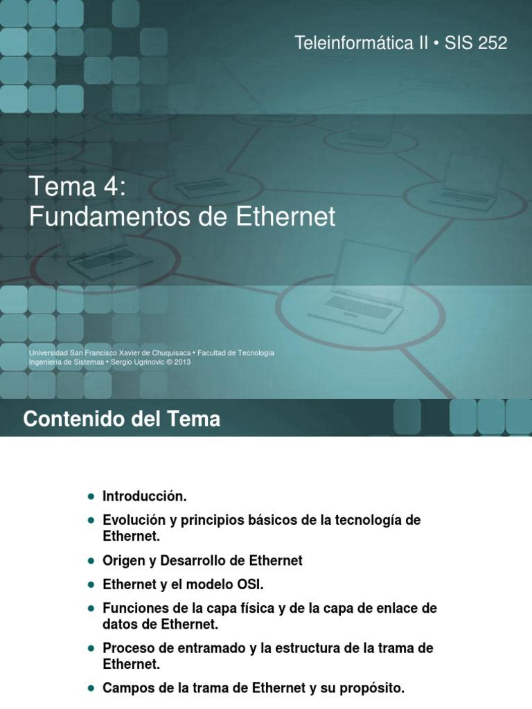 4 Fundamentos Ethernet