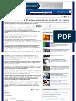 21-07-13 EL 30 DE LAS UNIDADES DE VALUACION EN RIESGO DE PERDER SU REGISTRO