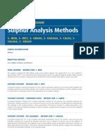 Sulfur Methods Various Sulfur Methods Including Leco Methods