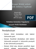 Pemeriksaan Widal Untuk Diagnostik Typhoid
