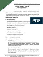 ESPECIFICACIONES TÉCNICAS CERCO PERIMETRICO