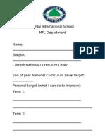 Target Sheets KS3
