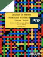 Lexique de termes techniques et scientifiques (Classement alphabétique)