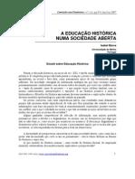 A EDUCAÇÃO HISTÓRICA NUMA SOCIEDADE ABERTA ISABEL BARCA