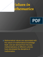 Values in Mathematics