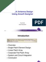 1-1 Patch Antenna Design Using Ansoft Designer