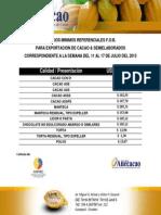 Precios Minimos Referenciales Del 11 Al 17 de Julio 2013