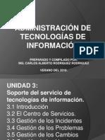 ITIL Soporte del servicio de tecnologías de información