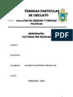 Culturas Pre Incas-Aldimar Guerrero