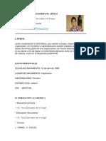Curriculum Actualisado h.V