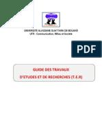 Guide Des Travaux d'Etudes Et de Recherche - Lmd Decanat 04 07 2013 Ok