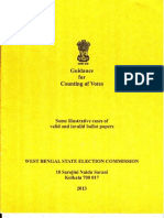 Counting Booklet for WB Panchayat Election 13
