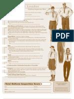 Pack 3322 BSA Scout Leader Uniform Inspection Sheet