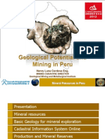 Geological Potential and Mining in Peru