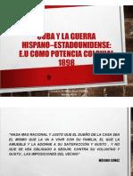 Unidad 8 Guerra Hispano- EEUU - Cuba - Claudia Patricia Silva Torres