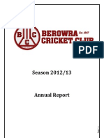 Berowra Cricket Club Inc. Annual Report 2012/2013