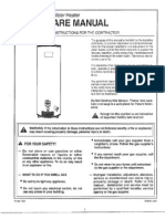 Water Heater Manual - Montgomery Ward 800