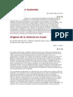 La Violencia en Guatemala