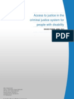 Access to Justice in the Criminal Justice System for People With Disability - Issues Paper April 2013