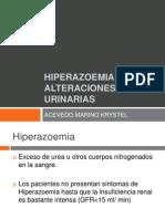 Hiperazoemia y Alteraciones Urinarias