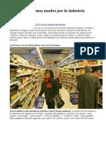 Los 10 tóxicos mas usados por la industria alimentaria