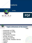 01 CT05032 Web Applications XHTML