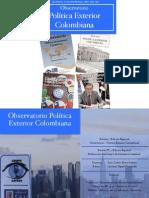 Observatorio Política Exterior Colombiana. Boletín N°5. Edición Especial. Issn
