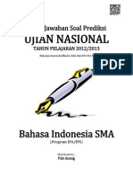 Kunci Jawaban Soal Prediksi UN Bahasa Indonesia SMA 2013