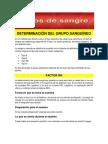 DETERMINACIÓN DEL GRUPO SANGUÍNEO