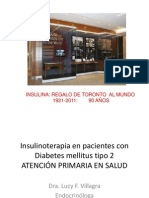 Insulinoterapia en Pacientes Con Diabetes Mellitus Tipo 2.2012