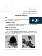 Transmission electron microscopy imaging & diffraction- class report