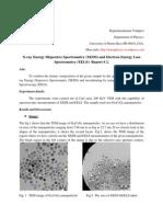 XEDS, EELS- class report