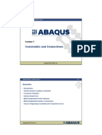 Constraints and Connections in abaqus