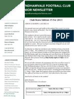 2013 Newsletters Week15