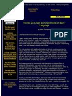 The Six Don Juan Commandments of Body Language