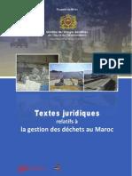 Toutes les Texte  juridiques relatifs a la gestion des déchets au Maroc