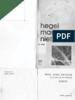 Hegel, Marx, Nietzsche-Lefrbvre