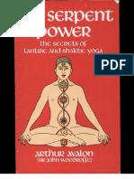 26018651 Arthur Avalon the Serpent Power the Secrets of Tantric and Shaktic Yoga 1950