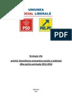 USL strategy on economic and social development for the period 2012-2016 of Alba Countye USL- Alba