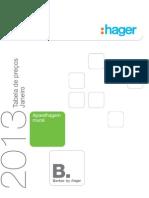 HAGER 2013 Tabela Preços