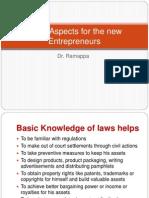 Legal Aspects for the New Entrepreneurs1