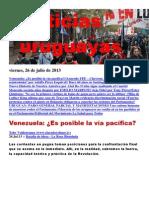 Noticias Uruguayas Viernes 26 de Julio Del 2013