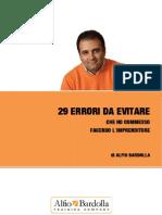 29 Errori Da Evitare Che Ho Commesso Fac - Alfio Bardolla