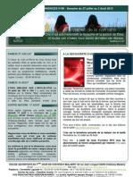 Bulletin d'annonces N° 69 Semaine du 27 juillet au 3 aout 2013