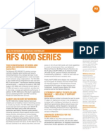 Enterprise Wireless LAN - RFS4000 Spec Sheet