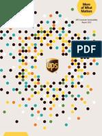 UPS_2012 Sustainability Report